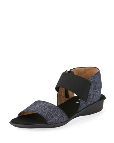Elki Comfort Denim Sandal, Blue