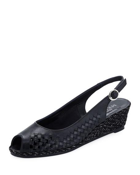 Sesto Meucci Manie Peep-Toe Slingback Pump, Black
