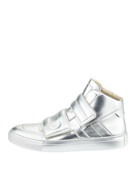 Metallic Grip High-Top Sneaker
