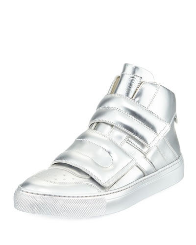 Metallic Grip High-Top Sneaker