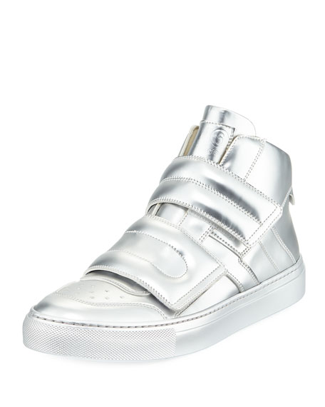 MM6 Maison Martin Margiela Metallic Grip High-Top Sneakers