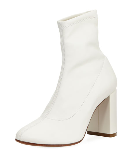 MM6 Maison Martin Margiela Sock-Like Smooth Leather Bootie