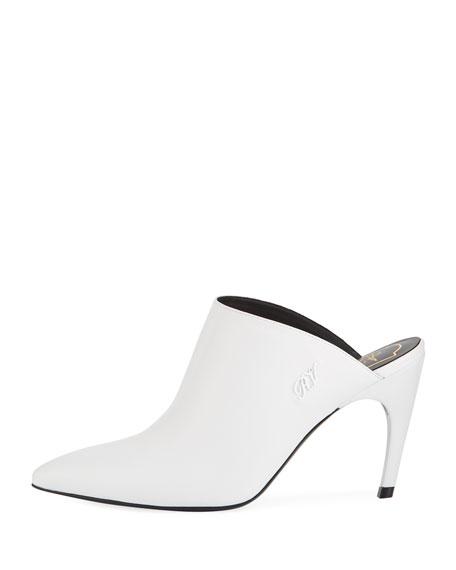 85mm Curve-Heel Leather Mule
