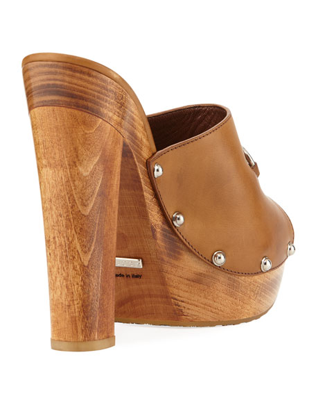 Morena Leather Platform Clog