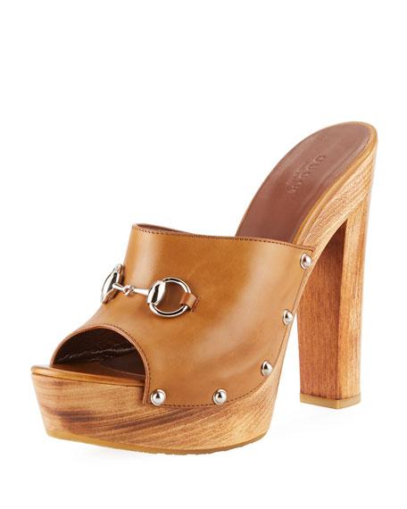 Morena Leather Platform Clog