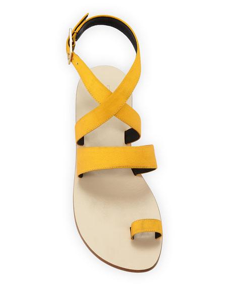 Hallie Satin Ankle-Wrap Sandal