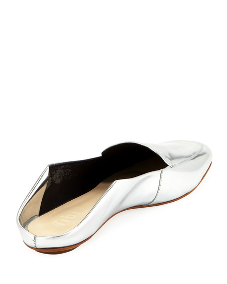 Cecil Metallic Leather Slide Loafer
