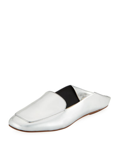 Cecil Metallic Leather Slide Loafer