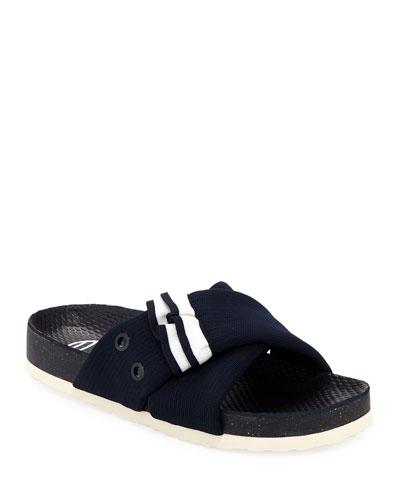 Side Car Ruffle Slide Sandal