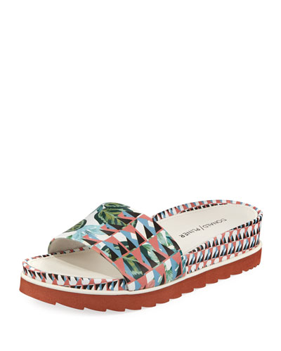 Cava Geometric Jungle Slide Sandal