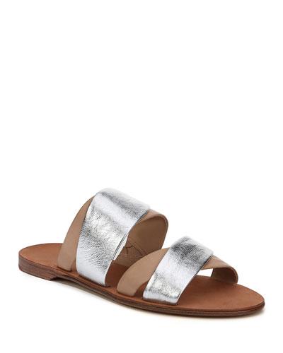 size 40 e5878 d92a6 Diane von Furstenberg Blake Flat Double-Band Slide Sandal