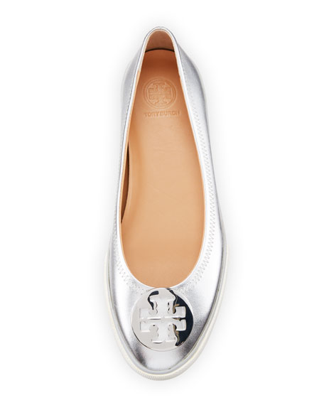 Skylar Metallic Leather Ballet Sneakers