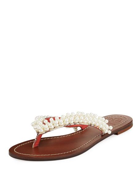 Tatiana Pearlescent Thong Sandal