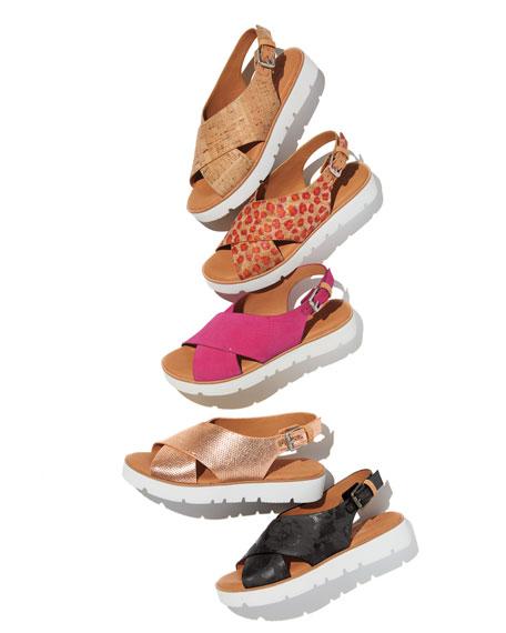 Kiki Brushed Suede Comfort Sandal