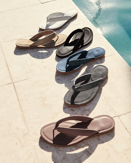 Flue Flat Washed Leather Thong Sandal