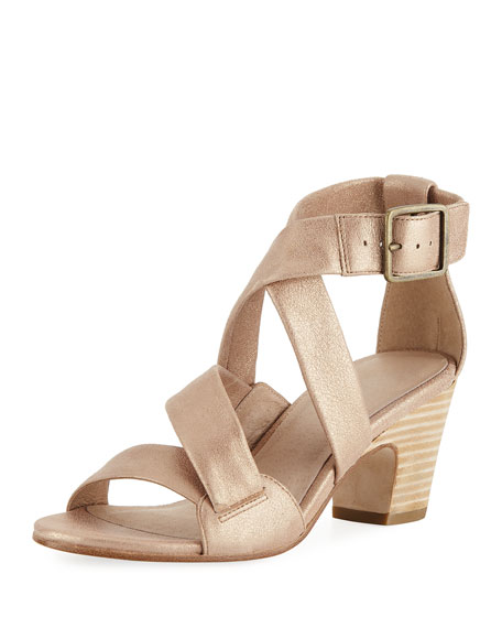 Eileen Fisher Patsy Metallic Suede Sandal