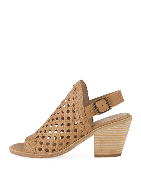 Rory Woven Leather Slingback Sandal