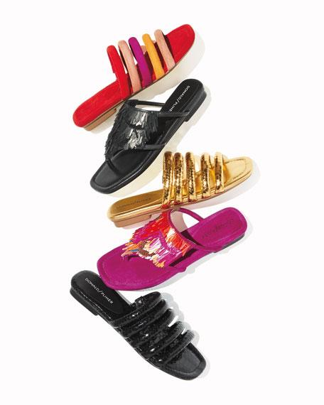 Kya Embellished Fringe Sandal