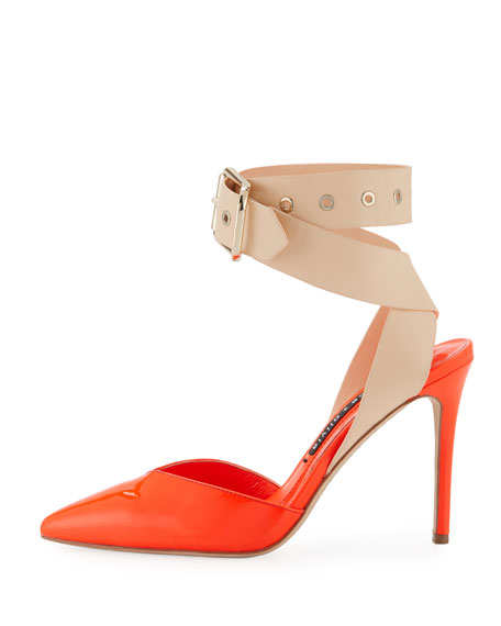 Rachelle Patent Two-Tone Pumps
