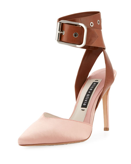 Rachelle Satin Two-Tone Pump