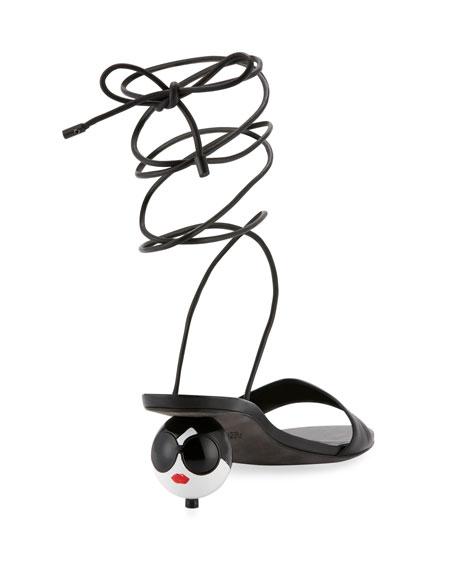 Coraline StaceFace Kitten-Heel Sandal