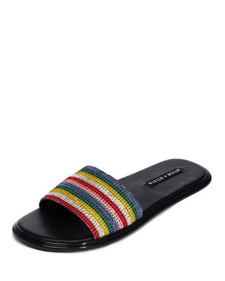 Tami Striped Embellished Sandal