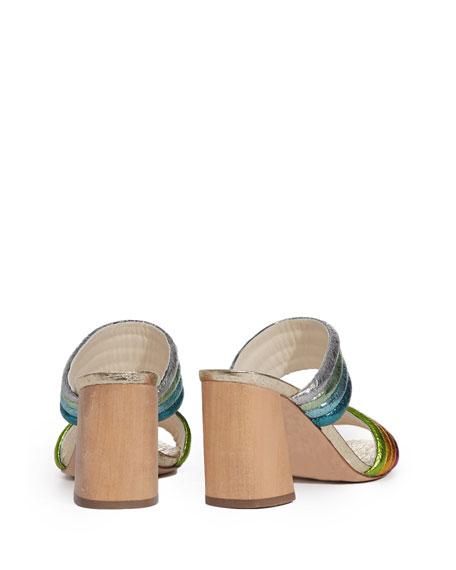 Lori Metallic Rainbow Slide Sandal