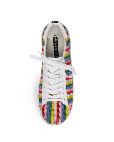 Cassidy Striped Embellished Sneakers