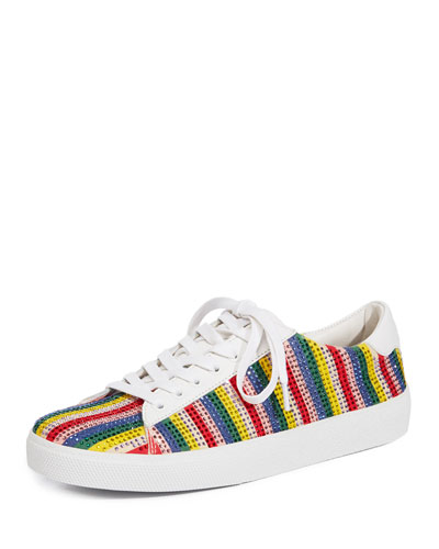 Cassidy Striped Embellished Sneaker
