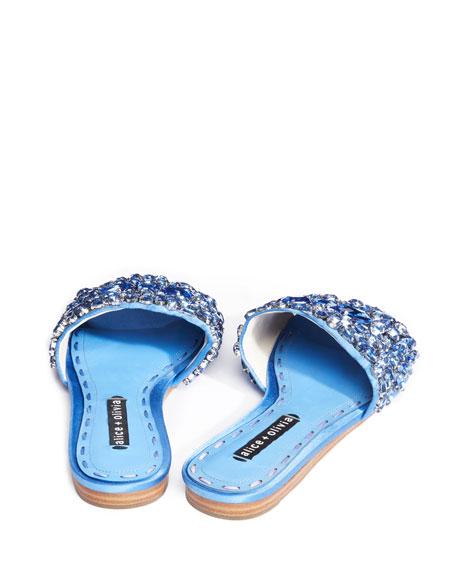 Abbey Jeweled Satin Sandal