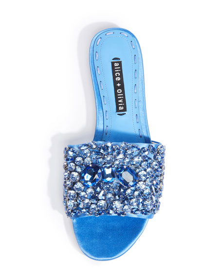 Abbey Jeweled Satin Sandal