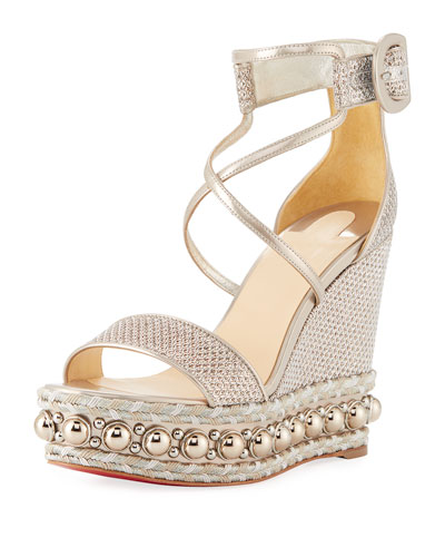 Chocazeppa Metallic Platform Red Sole Sandal