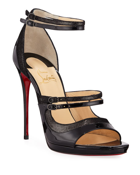 Christian Louboutin Sotto Sopra Patent Red Sole Sandal
