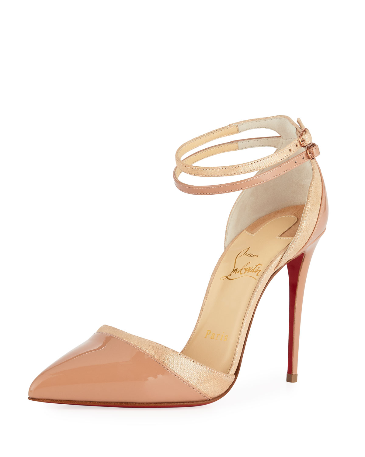 Uptown Double 100 black leather pumps Christian Louboutin