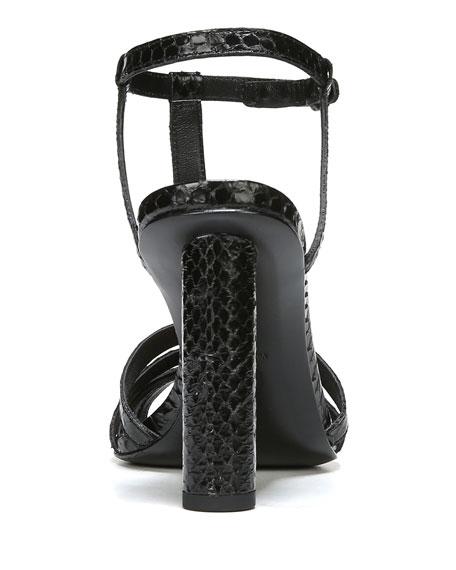 Eva Caged Snakeskin Sandal