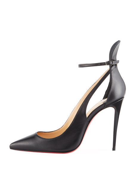 Mascara 100mm Leather Red Sole Pump