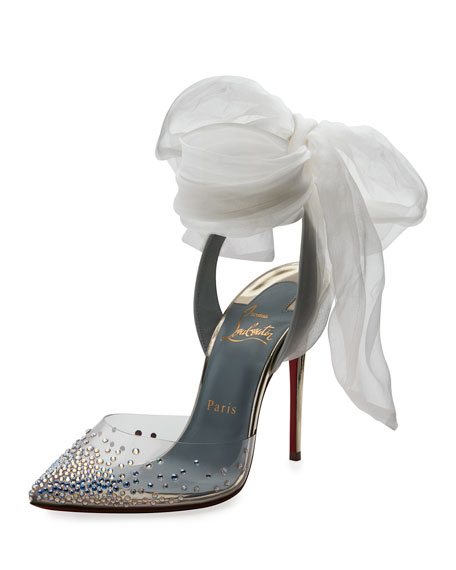 Christian Louboutin Miragirl Ankle-Wrap Red Sole Pump