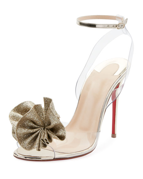 Christian Louboutin Fossiliza Metallic Illusion Red Sole Sandal