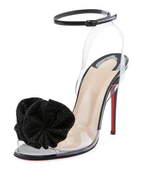 Christian Louboutin Fossiliza Illusion Red Sole Sandal