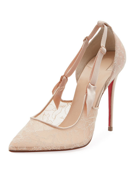 Christian Louboutin Hot Jeanbi Lace Red Sole Pump