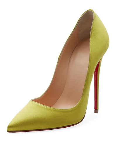 So Kate 120mm Crepe Satin Red Sole Pump