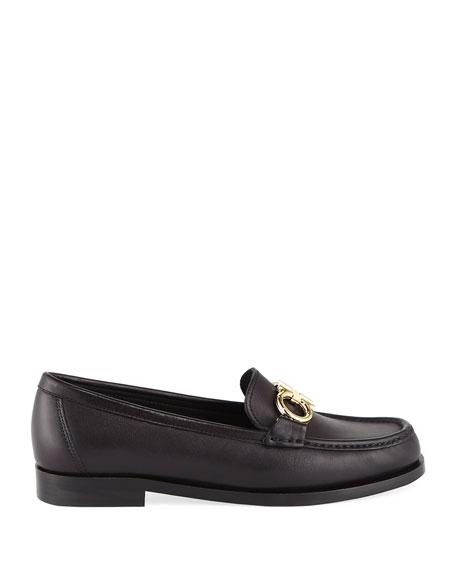 Rolo Gancini Calfskin Flat Loafer