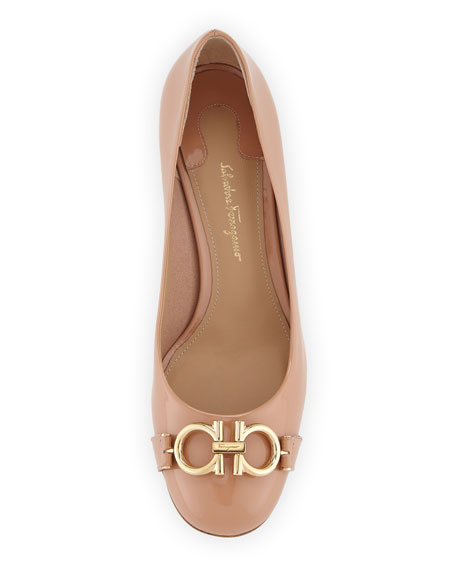 Gancini Patent 55mm Pumps, New Blush