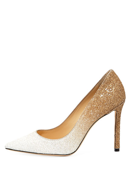 Romy 100mm Ombre Glitter Pumps