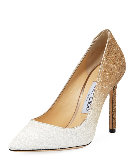 0962b43099d Jimmy Choo Romy 100mm Ombre Glitter Pumps