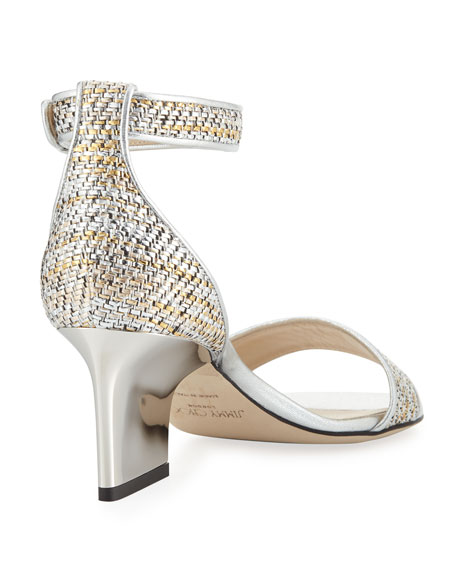 Edina 65mm Woven Metallic Sandal