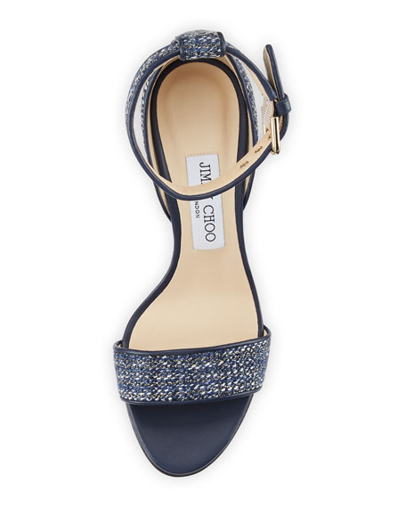 Edina Metallic Tweed Sandal