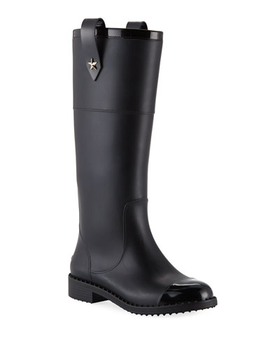 Edith Rubber Knee-High Rain Boot