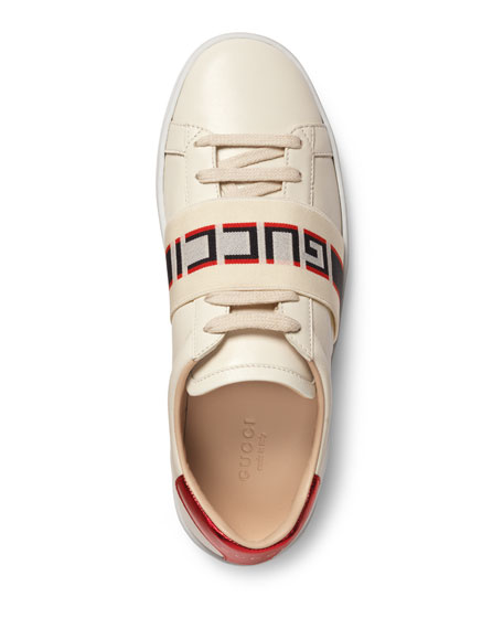 New Ace Gucci Band Leather Sneaker