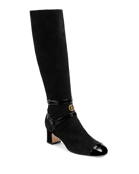 Geraldine Suede Over The Knee Boot by Gucci